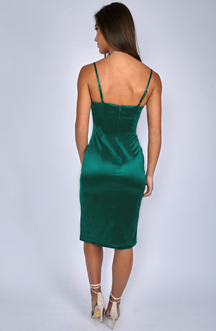 Forbidden Romance Dress - Emerald