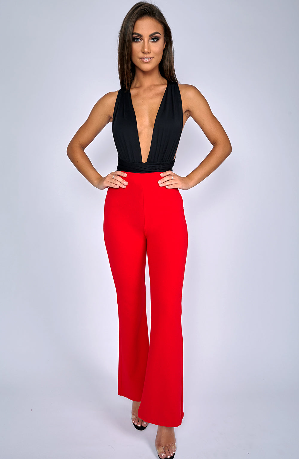 Chanel Flare Pants - Red