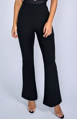 Chanel Flare Pants - Black