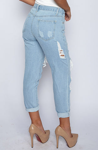 Malibu Boyfriend Jeans - Light Blue
