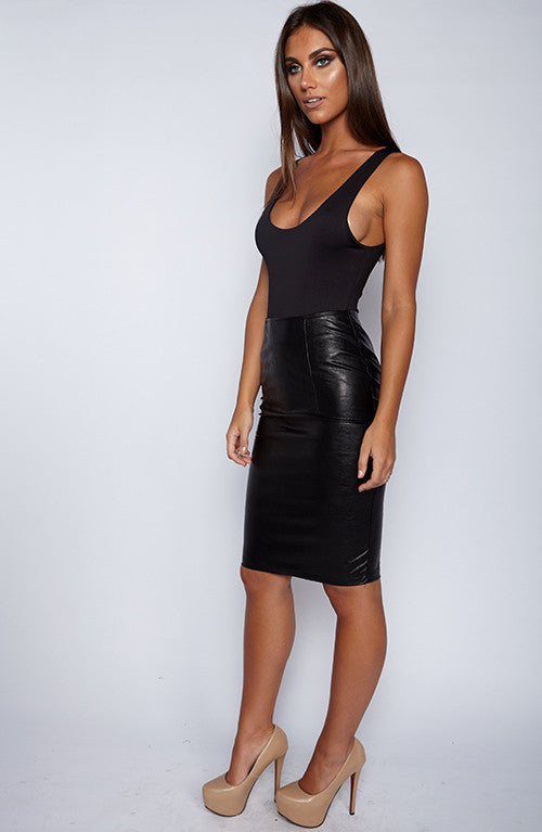 High Control Skirt - Black