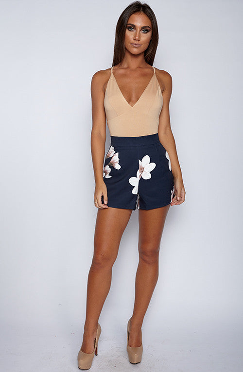 Hot Right Now Bodysuit Onepiece - Tan