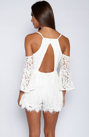 Treasures Playsuit - White