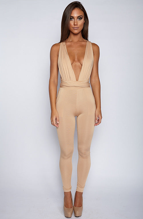 Luxe Life Jumpsuit - Tan