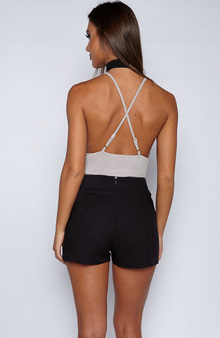 Hot Right Now Bodysuit Onepiece - Grey