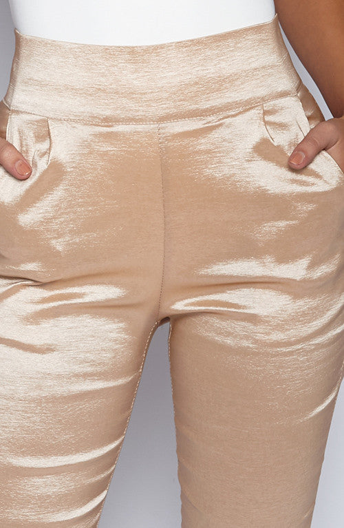 Heartbeat Pants - Nude Shine