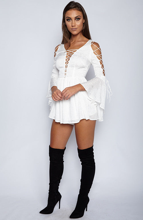 After you Playsuit - White