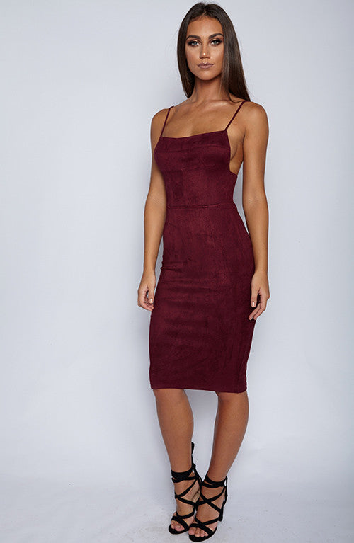 Kayleen Dress - Wine