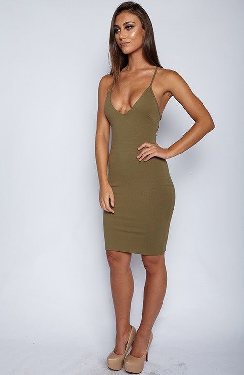 With Bae Dress - Khaki