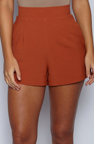 Right On Shorts - Burnt Orange