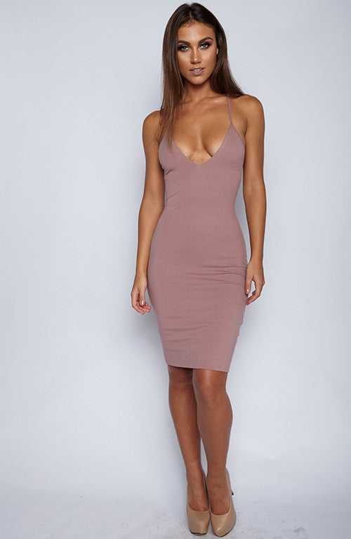 With Bae Dress - Mauve