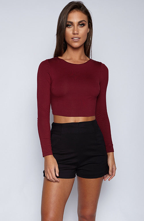 Turning Heads Top - Maroon