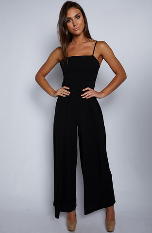 Straight Forward Jumpsuit - Black