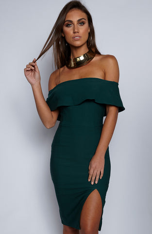 Beats Me Dress - Forest Green