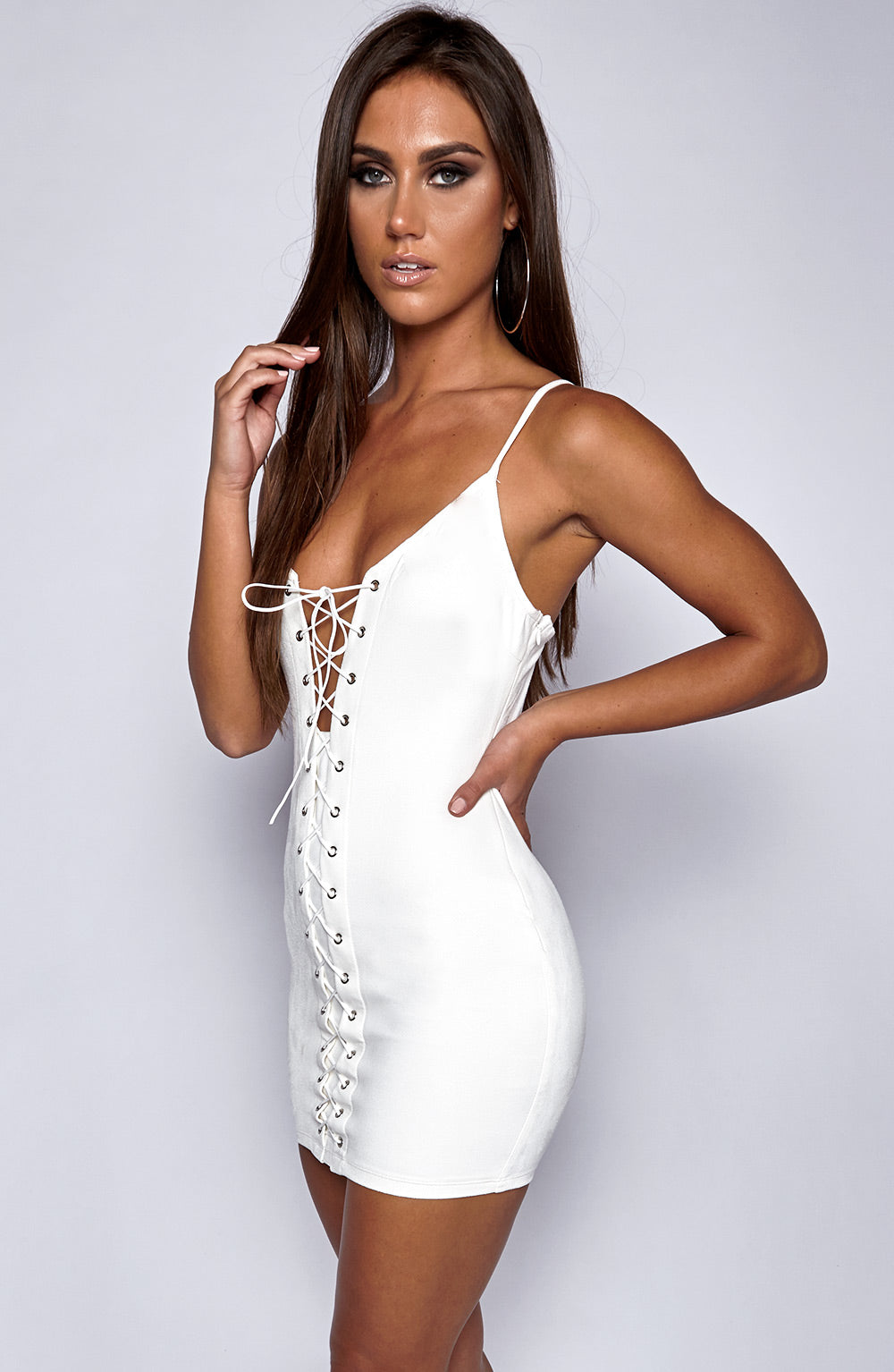 All Crossed Up Dress - White