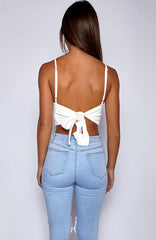 Nelly Crop - White