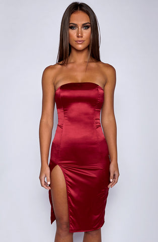 Side Bae Dress - Wine