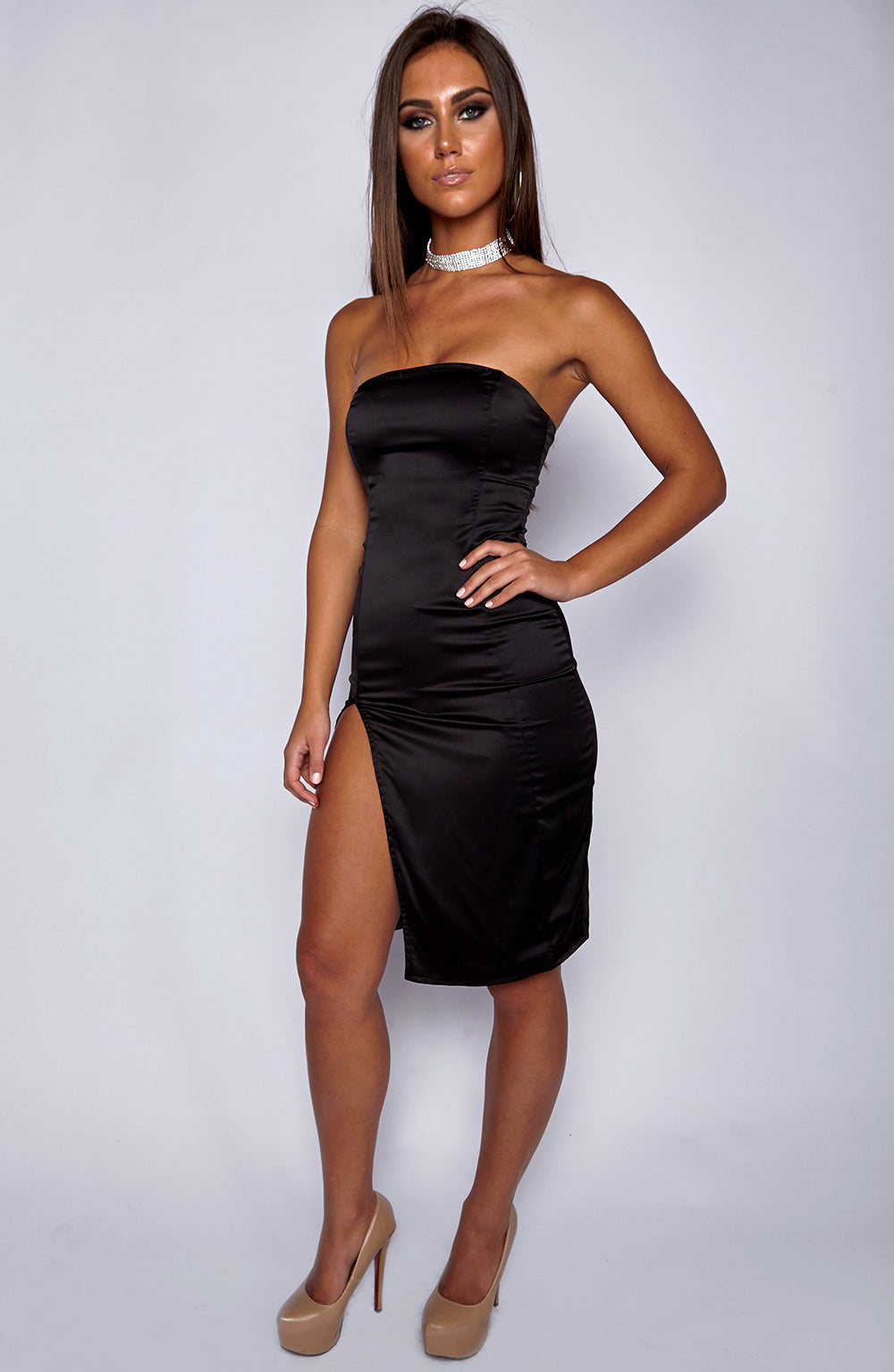 Side Bae Dress - Black