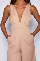 Totally Down Jumpsuit - Mocha