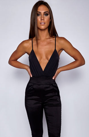 Shady Vibes Bodysuit Leotard - Black