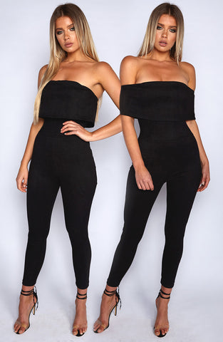 Ahead of the Game Jumpsuit - Black