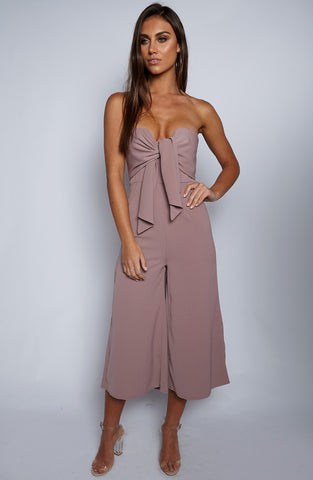 Eyes On Me Jumpsuit - Dusty Pink