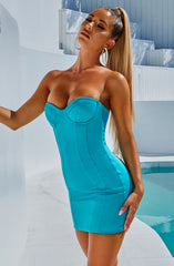 Tegan Mini Dress - Turquoise