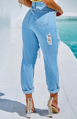 Tiana Boyfriend Jeans - Light Blue