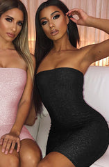 Tila Dress - Black Sparkle