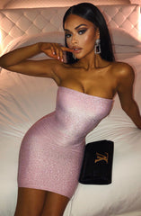 Tila Mini Dress - Pink Sparkle