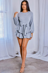 Valentina Playsuit - Grey