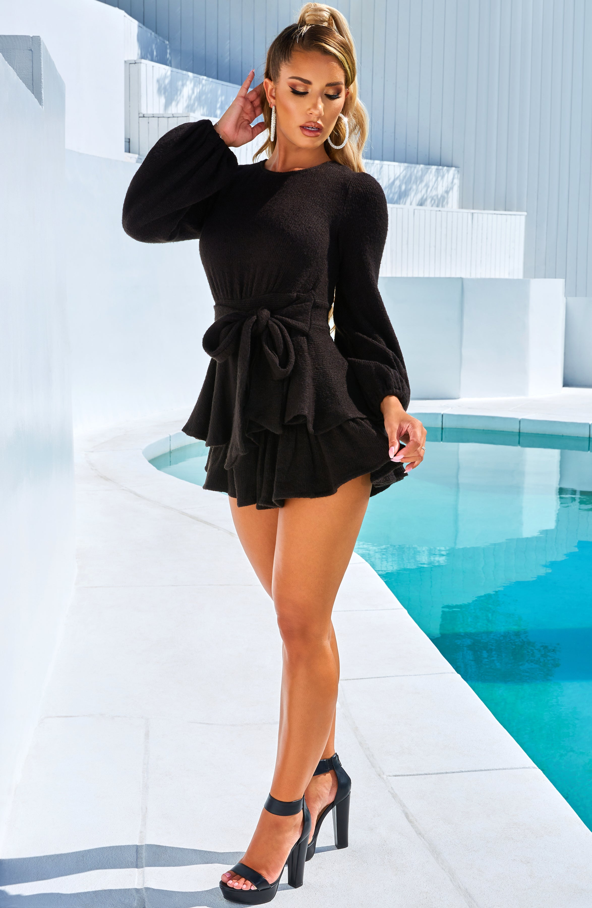 Valentina Playsuit - Black