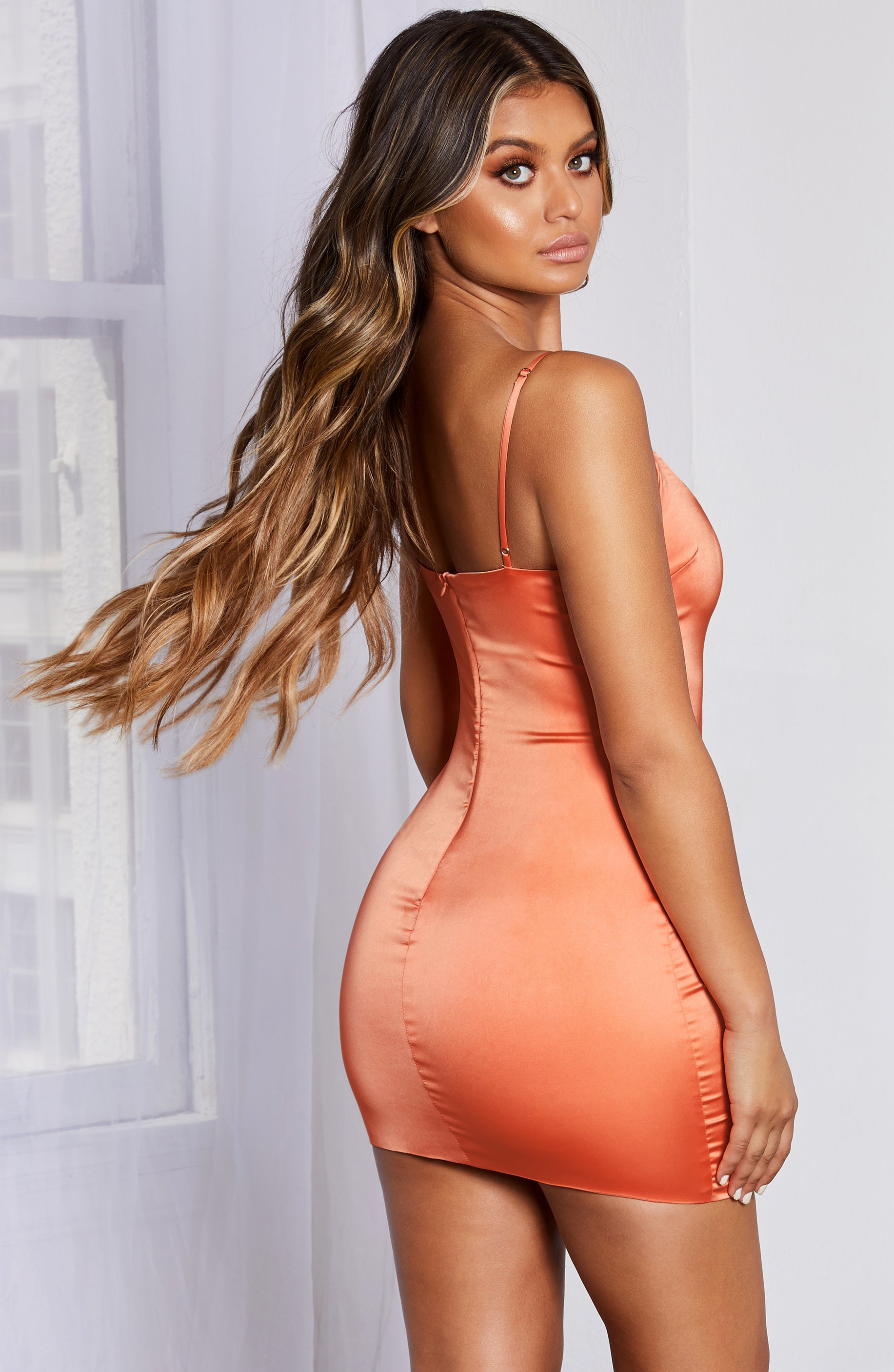 Veronika Mini Dress - Orange