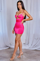 Yasmine Mini Dress - Hot Pink