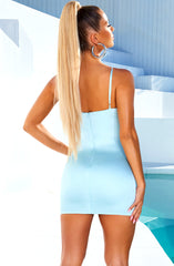 Yasmine Mini Dress - Baby Blue