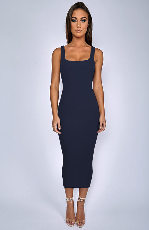 Basic Bish Dress - Navy
