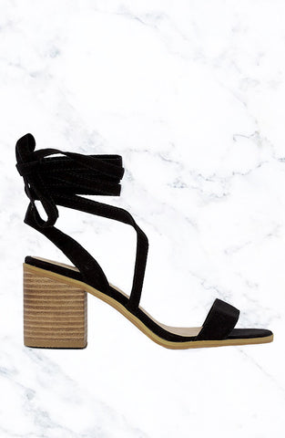 WISTFUL Heels - Black Suede