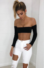 Kira Crop Top - Black