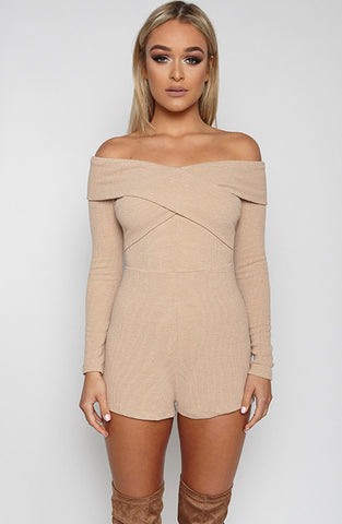 Mara Playsuit - Beige