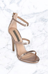 Delta Heels - Rose Gold Metallic