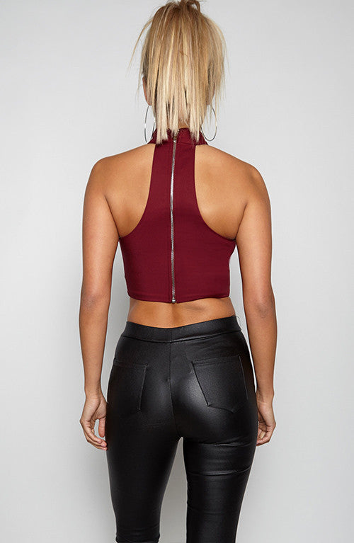 Zacker Top - Maroon