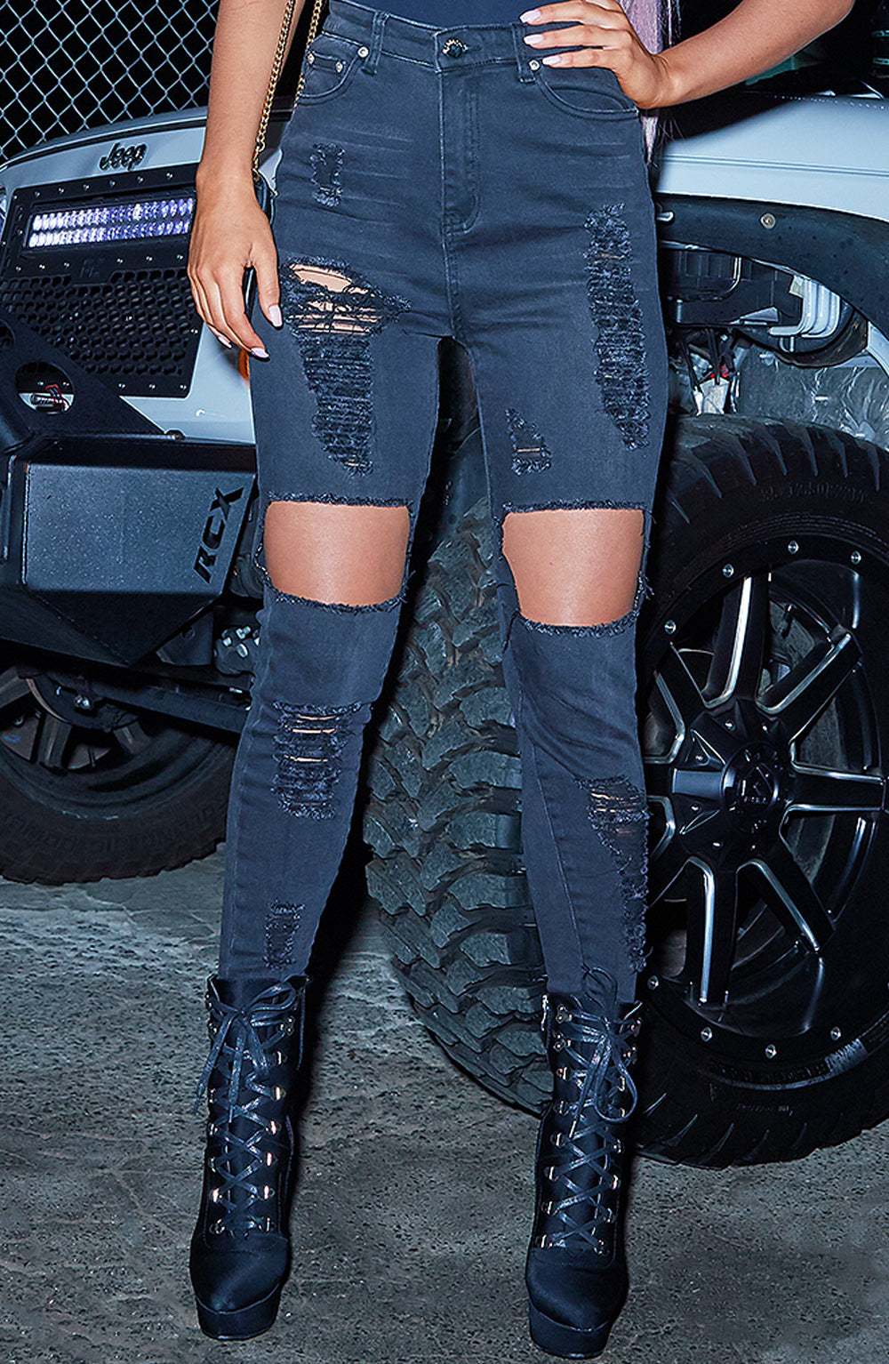 Shani Grimmond x Babyboo - Feelin it Jeans - Black