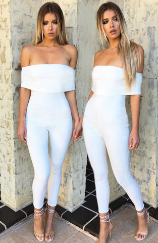 Ahead of the Game Jumpsuit - White