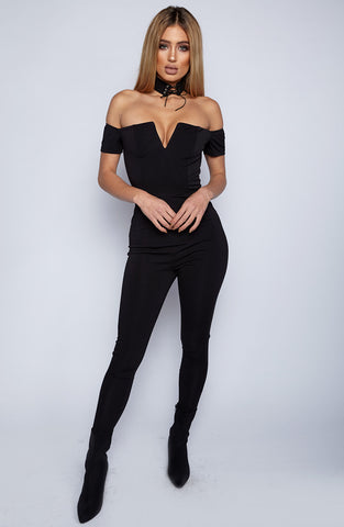 Hot Flushes Jumpsuit - Black