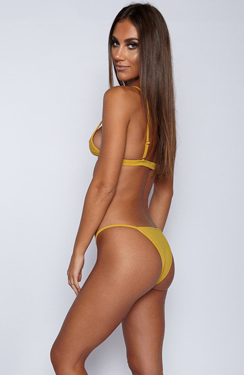 Ohana Swim - Plain Bae Bottom - Mustard
