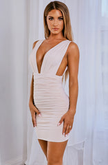 Kahra Mini Dress - Nude