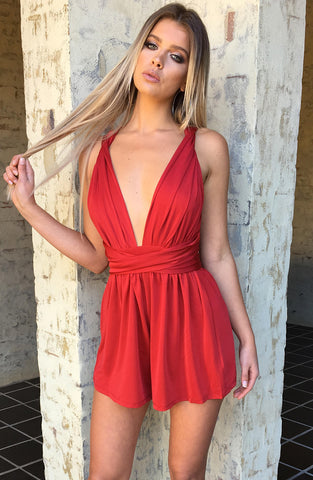 New Direction Playsuit - Red