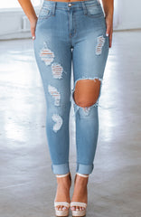 Leah Jeans - Medium Blue