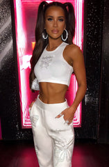 Sasha Diamante Crop - White