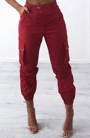 Ignition Cargo Pants - Red